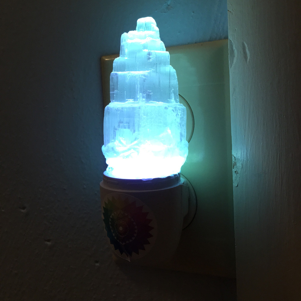 Selenite color changing light