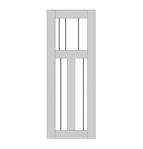 Single Rustic Wood Door (RS3000)