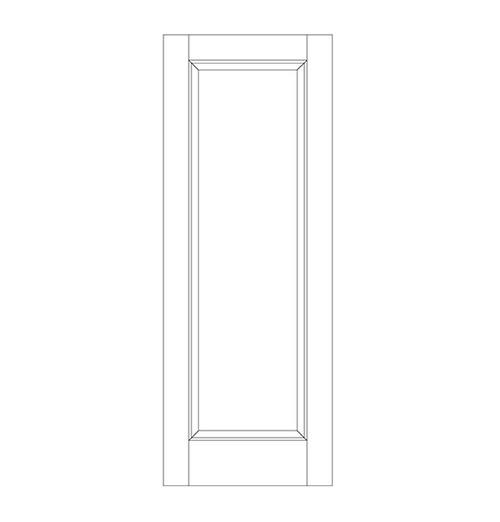 1-Panel Wood Door (DR1000)