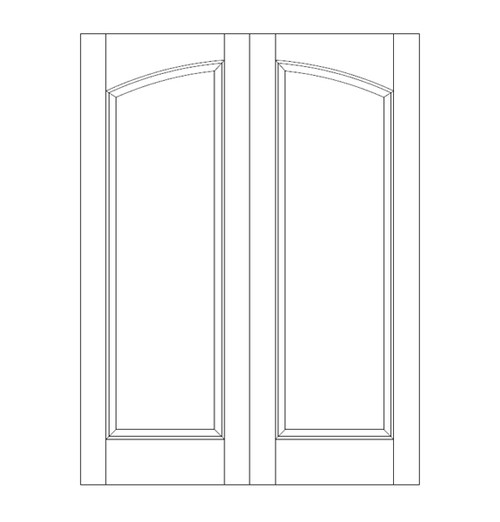 1-Panel Wood Door (DR1100CA)