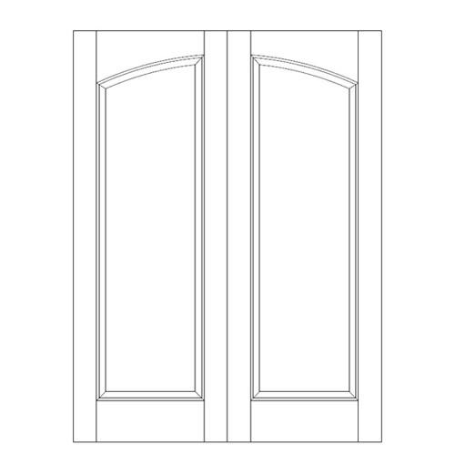 1-Panel Wood Door (DR1100CA)