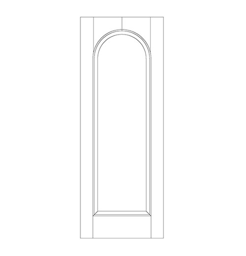1-Panel Wood Door (DR1200)