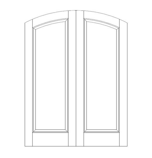 1-Panel Wood Door (DR1500CA)