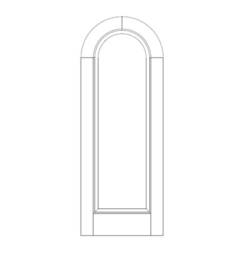 1-Panel Wood Door (DR1600)
