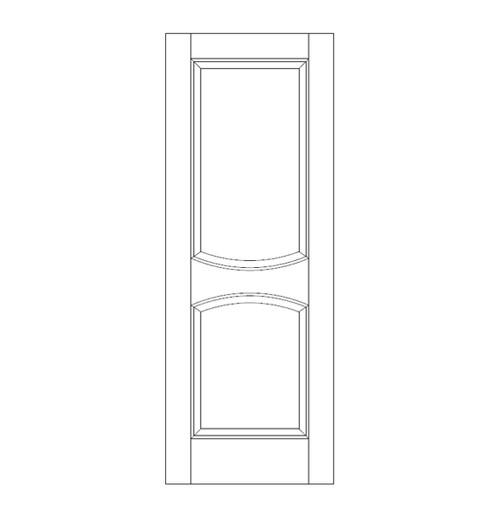 2-Panel Wood Door (DR2010)