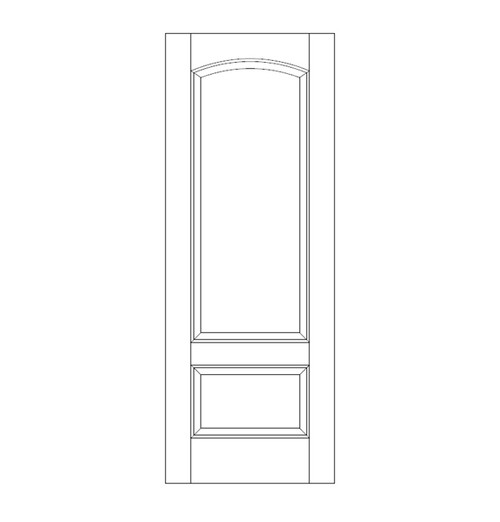 2-Panel Wood Door (DR2160)