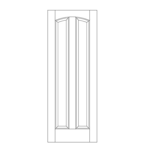 2-Panel Wood Door (DR2180)