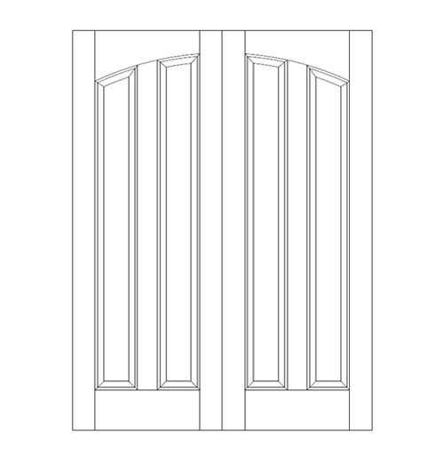 2-Panel Wood Door (DR2180CA)