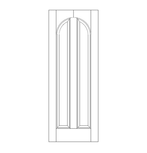 2-Panel Wood Door (DR2280)