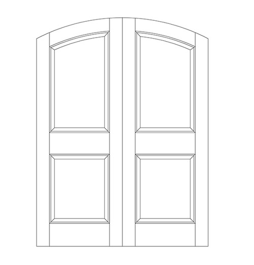 2-Panel Wood Door (DR2500CA)