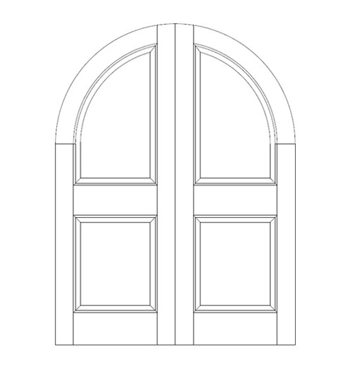 2-Panel Wood Door (DR2600CA)