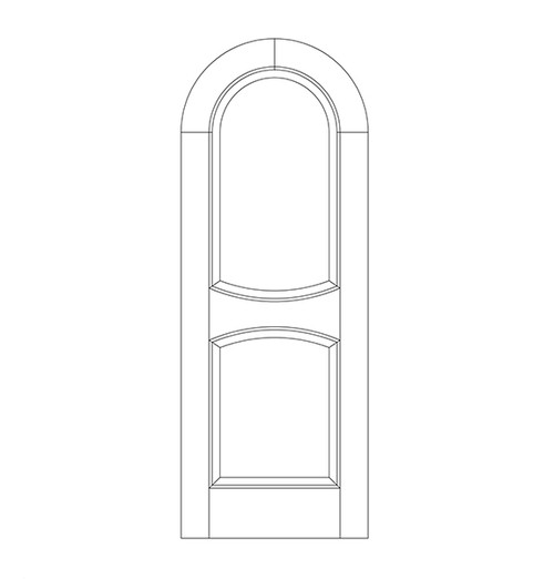 2-Panel Wood Door (DR2610)