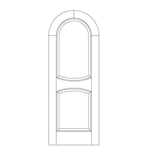 2-Panel Wood Door (DR2610)