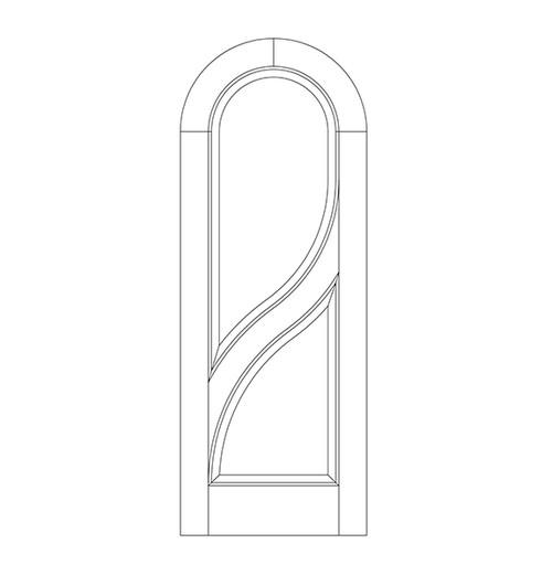 2-Panel Wood Door (DR2620)