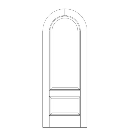 2-Panel Wood Door (DR2660)