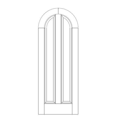 2-Panel Wood Door (DR2680)