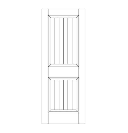 2-Panel Wood Door (DV2000)