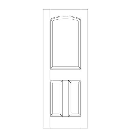 3-Panel Wood Door (DR3160)
