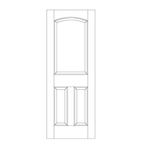 3-Panel Wood Door (DR3160)