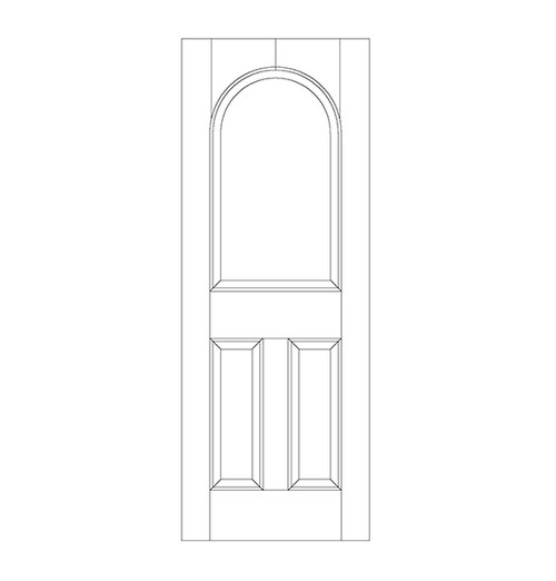 3-Panel Wood Door (DR3260)