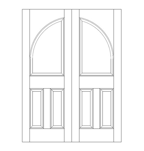 3-Panel Wood Door (DR3260CA)