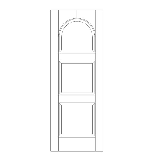 3-Panel Wood Door (DR3290)