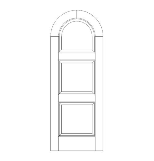 3-Panel Wood Door (DR3690)