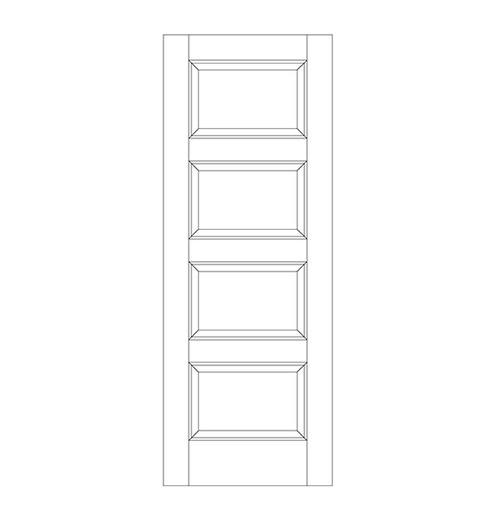 4-Panel Wood Door (DR4090)