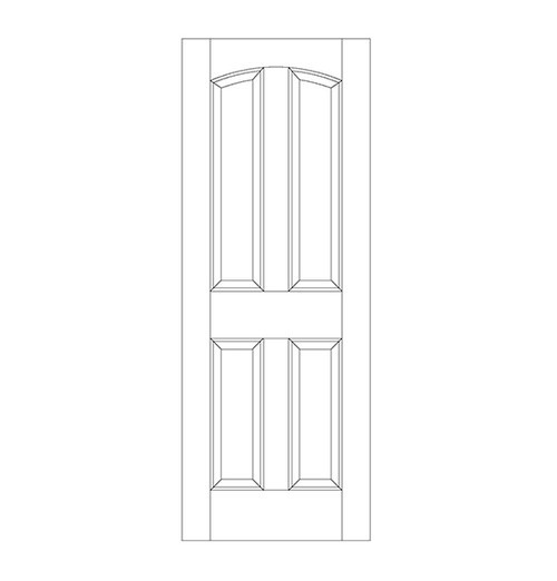 4-Panel Wood Door (DR4100)