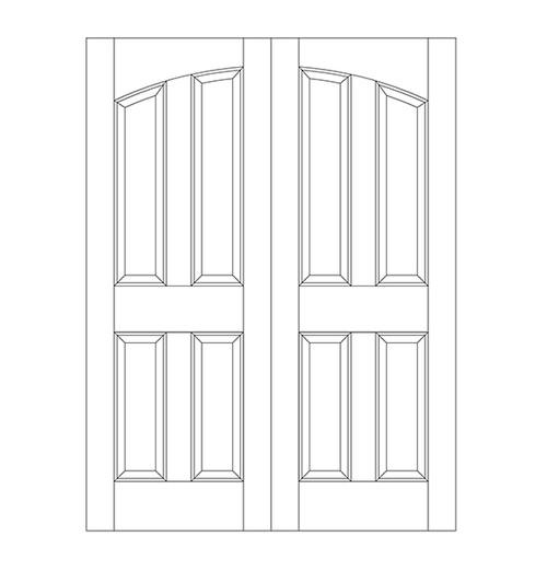 4 Panel Wood Door (DR4100CA)