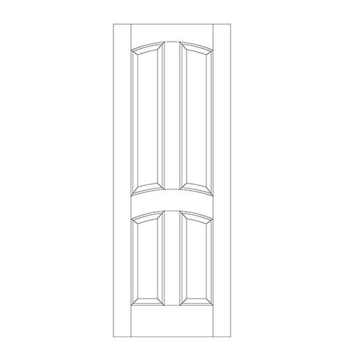 4-Panel Wood Door (DR4110)