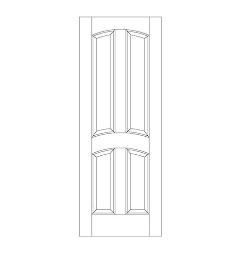 4-Panel Wood Door (DR4110)