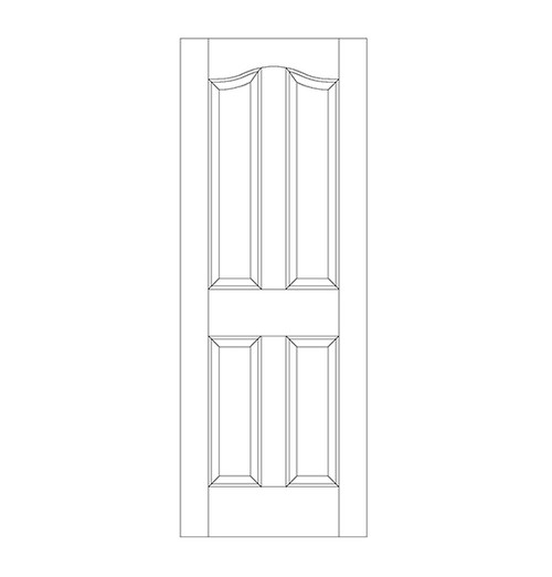 4-Panel Wood Door (DR4300)