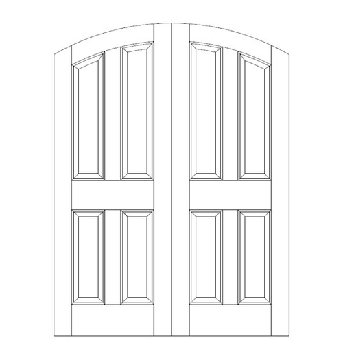 4-Panel Wood Door (DR4500CA)
