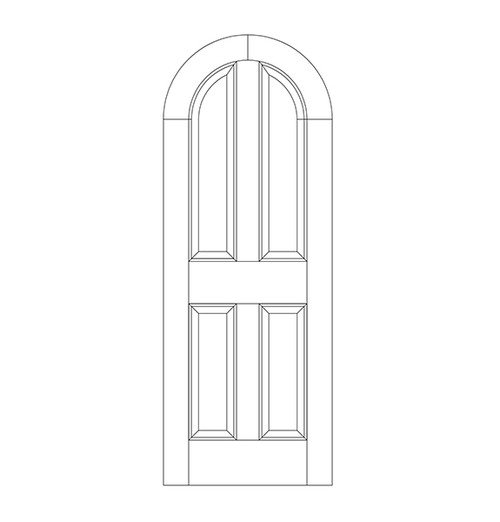 4-Panel Wood Door (DR4600)