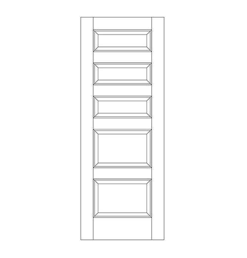 5-Panel Wood Door (DR5080)
