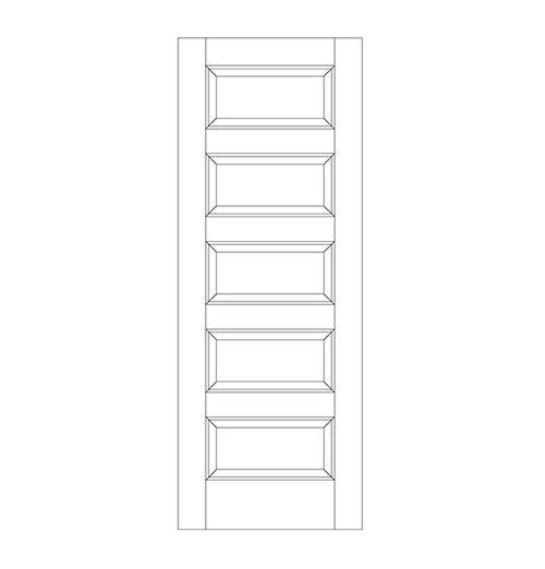 5-Panel Wood Door (DR5090)