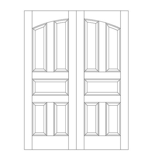 5-Panel Wood Door (DR5100CA)