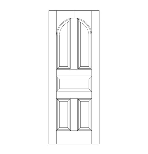 5-Panel Wood Door (DR5200)