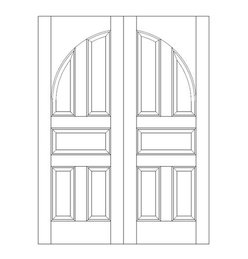 5-Panel Wood Door (DR5200CA)