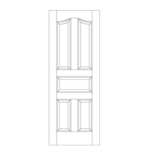 5-Panel Wood Door (DR5300)