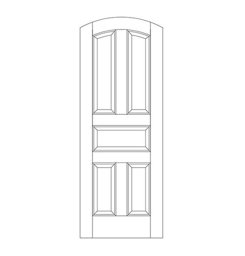 5-Panel Wood Door (DR5500)