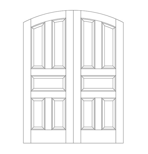 5-Panel Wood Door (DR5500CA)