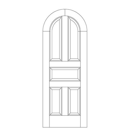 5-Panel Wood Door (DR5600)