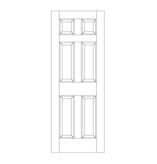 6-Panel Wood Door (DR6000)
