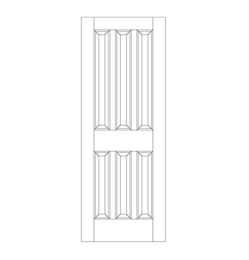 6-Panel Wood Door (DR6020)