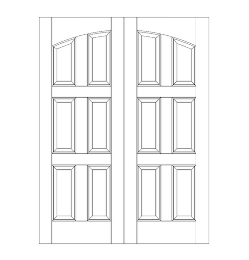 6-Panel Wood Door (DR6110CA)