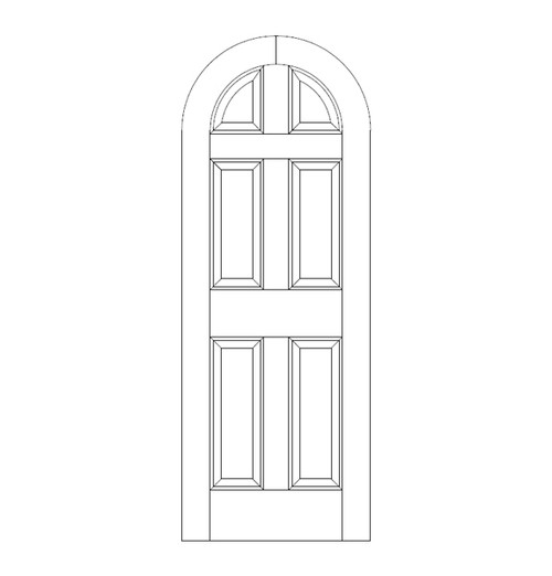 6-Panel Wood Door (DR6600)
