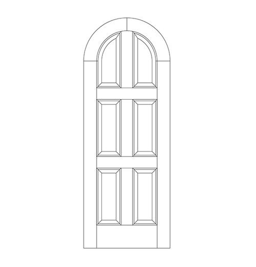 6-Panel Wood Door (DR6610)