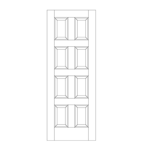 8-Panel Wood Door (DR8000)